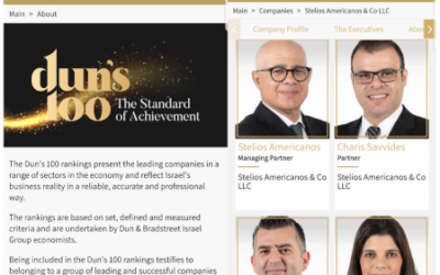 The Dun's 100 rankings Stelios Americanos & Co LLC