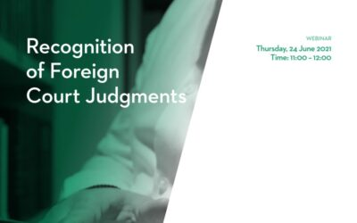 Webinar: Recognition of Foreign Judgements