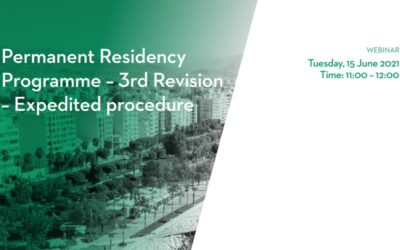 Webinar: Permanent Residency Programme – 3rd Revision – Expedited procedure